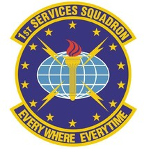 USAF 1ST SERVICES SQUADRON 12'' Sticker Armed Forces - $24.74