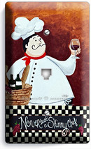 Drunk French Fat Chef Phone Telephone Wall Plate Cover Kitchen Dining Room Decor - $10.79