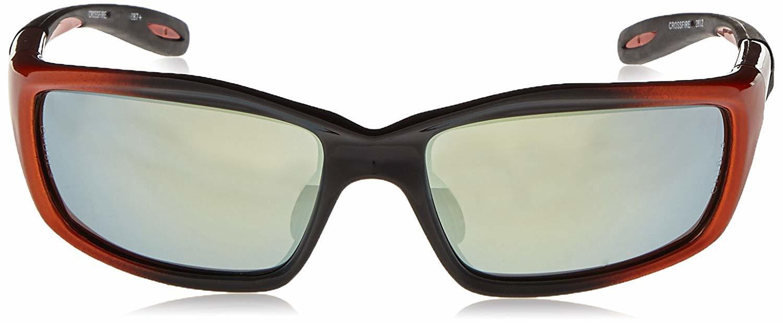 2d9734f32cf ... Crossfire 2812 Infinity Safety Glasses Gold Mirror Lens - Orange Black  Frame ...
