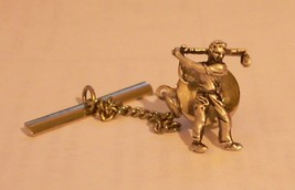 Vintage Silver Tone Swank Golf Golfer Tie Tack Shhh He's Swinging FORE! - $7.39