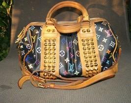 Auth Louis Vuitton Courtney Mm Hand Bag Black Monogram Multi - $792.00