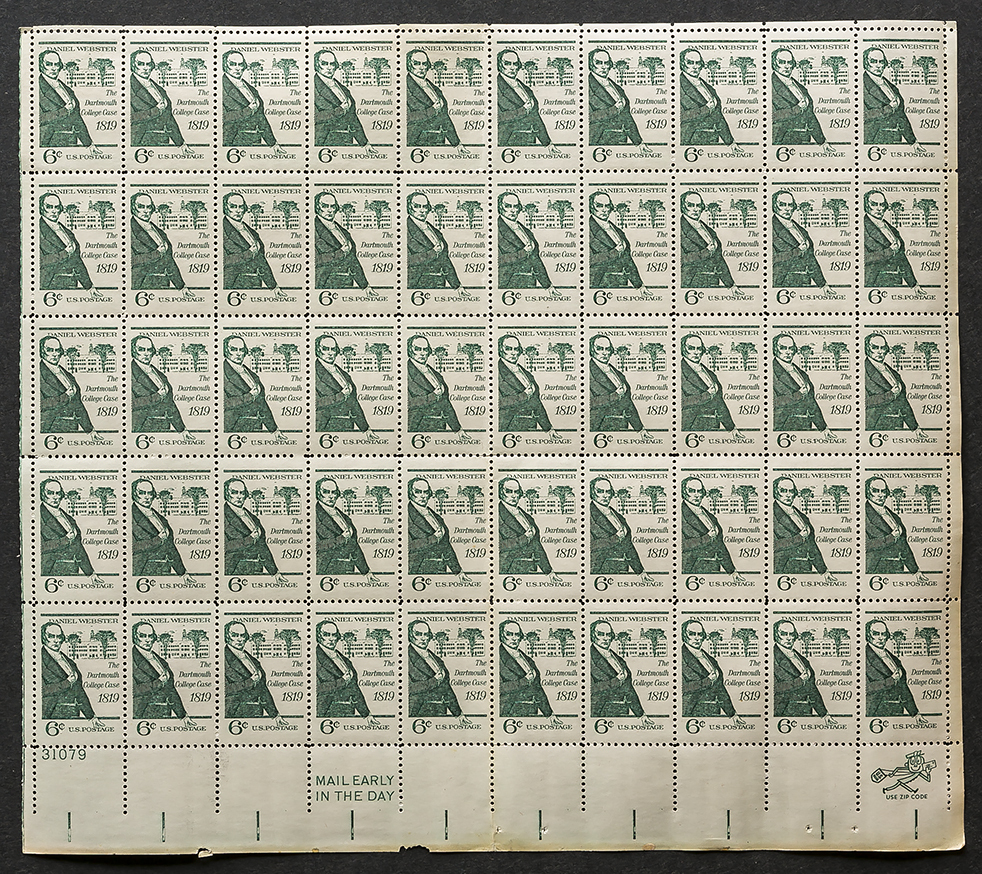 Webster 6 stamps