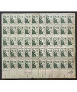 Daniel Webster 1819, The Dartmouth College Case, Sheet of 6 cent stamps - $7.50