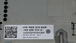 2010-2015 Volkswagen Touch Screen Navigation Radio Head Unit 1K0-035-274-D image 5