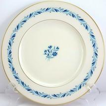 "Lenox Blueridge Luncheon Plate Ivory Blue Floral Scrolls Gold Trim 9-1/8"" - $13.86"