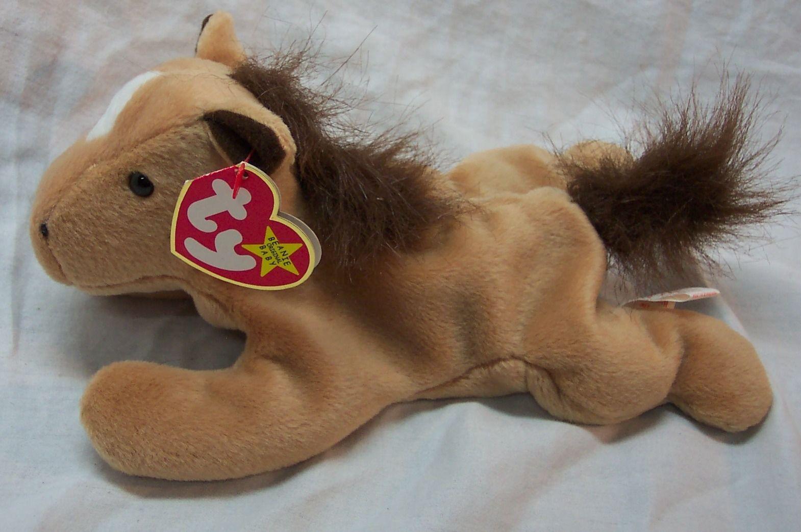 TY Beanie Baby DERBY THE TAN HORSE PONY 8