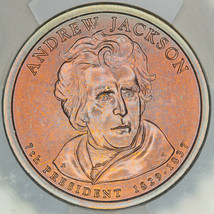 2008-D PRESIDENTIAL DOLLAR ANDREW JACKSON ICG SP69 SATIN FIRST DAY ISSUE... - $94.05