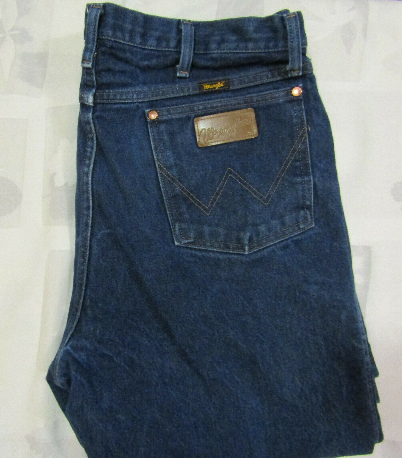 Primary image for Wrangler 38 X 40 Mens Blue Denim Jeans Cowboy Vintage Made In Mexico USA 13MWZ