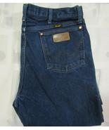 Wrangler 38 X 40 Mens Blue Denim Jeans Cowboy Vintage Made In Mexico USA... - $34.99