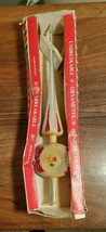 Vintage Unbreakable Hand Decorated Tree Topper #633-Y-17 Made In Italy - $19.75