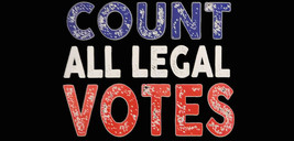 Count All Legal Votes Black Red White Blue Vinyl Decal Bumper Sticker - $5.55