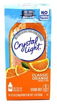 Crystal Light On The Go Classic Orange Drink Mix, 10-Packet Box Pack of 3 Boxes