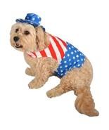 New 2-piece Patriot Patriotic Americana Dog Costume Bodice & Hat ~ M or L - $6.99