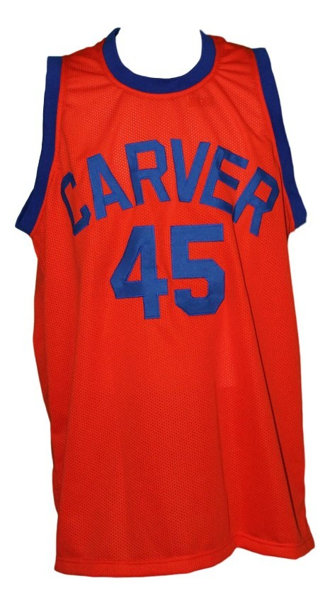Warren coolidge  45 carver high white shadow tv series basketball jersey 1