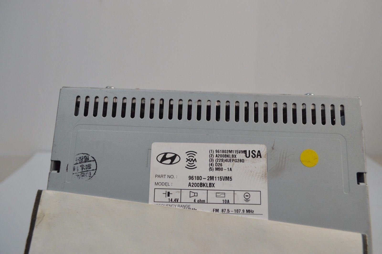 2011 2012 Hyundai Genesis Radio Cd MP3 Player 96180-2M115VM5 TESTED A34#0028