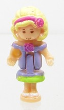 1996 Vintage Polly Pocket Dolls Sweet Roses - Polly Bluebird Toys - $7.50