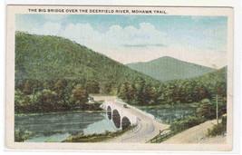 Big Bridge Deerfield River Mohawk Trail Highway Berkshires MA 1920s post... - $5.94