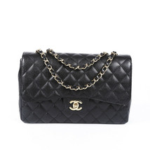 Chanel Jumbo Quilted Caviar Classic Single Flap Bag - $4,510.00