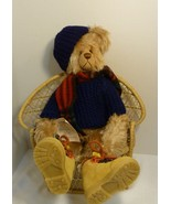 """Rags A. Muffin Authentic Folk Art Handmade in USA Large Bear """"Billy"""" Sig... - $94.98"""