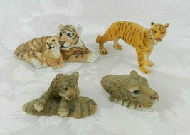 "Lot of 4 Tiger Figurines - Boyds Bears & Friends Deskanimals ""Lucy"" + More - $16.82"