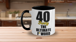 40 Year Old Birthday Funny Coffee Mug Gift Forty The Ultimate F Word 198... - $19.95