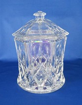 Gorham, Biscuit Barrel, Full Lead Crystal, Lady Anne, West Germany, c. 1980's - $42.00