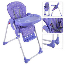 Adjustable Baby High Chair Infant Toddler Feeding Booster Seat Folding P... - $73.90