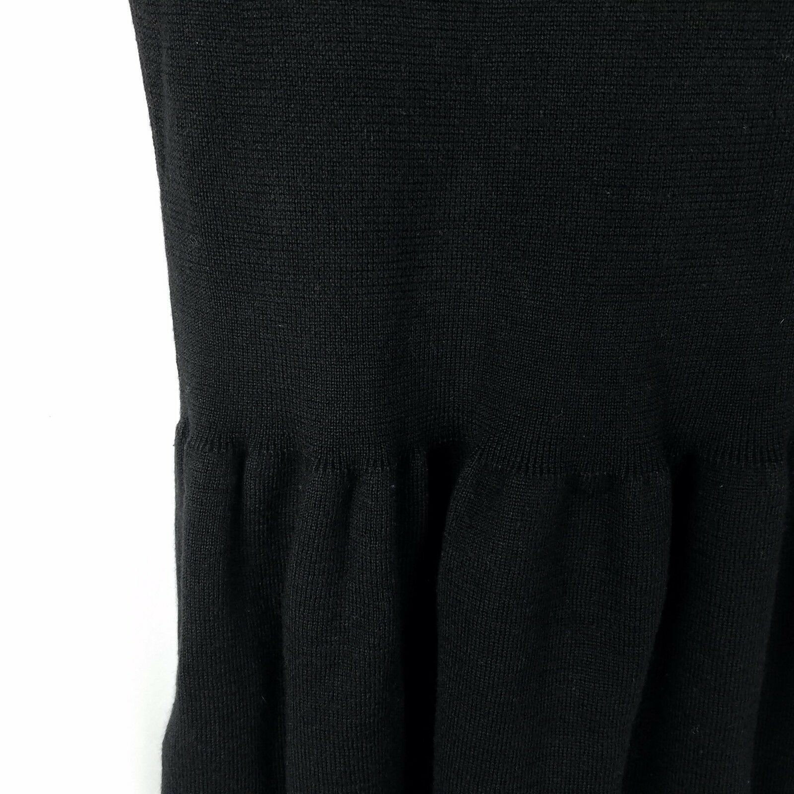 Anne Klein Black Sweater Dress Womens Size S Small 3/4 Sleeve Stretch Short image 8