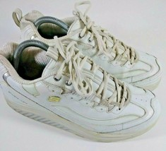 Skechers Shape Ups Fitness Workout Sneaker White Silver 11800EW  sz 10 - £24.99 GBP
