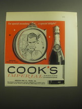 1959 Cook's Imperial Champagne Ad - For special occasions.. A special de... - $14.99