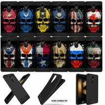 Combat Case for [LG Aristo 2/ Tribute Dynasty] Skull Flags Flexible TPU ... - $9.89