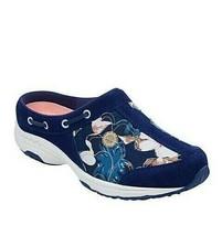 New Easy Spirit Blue Floral Walking Travelport Clogs Size 7.5 W Wide $69 - $47.99