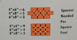 Barwalt 16120 Orange Precision Spacers Ceramic Tile One Eighth Inch image 4