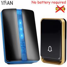 YIFAN Wireless Doorbell NO battery Waterproof EU Plug led light 150M long range  - $35.95