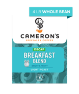 CAMERON'S WHOLE BEAN DECAF BREAKFAST BLEND 4LB PACKAGE - $44.46