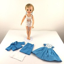 """Vintage 17"""" Fashion Doll With Mix and Match Clothing Original Earrings P... - $34.98"""