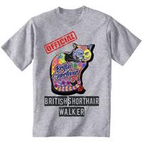 British Shorthair - official walker c - NEW COTTON GREY TSHIRT ALL SIZES - $20.84