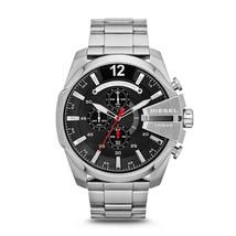 Diesel DZ4308 Mega Chief Silver Chronograph Mens Watch - $139.39 CAD