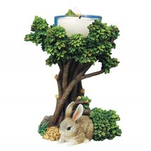 "Brown Cottontail Sitting Under A Tree With Tea Light, 4.75"", WL SS-WL-5841 - $9.00"