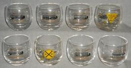 Set (8) MCM 1950s-60s 10 oz MEDIUM ROLY POLY Bar Glasses TRUCKING - BIG RIG - $69.29