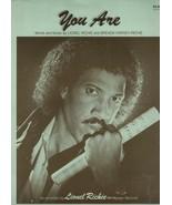 You Are Sheet Music -  Lionel Richie & Brenda Harvey-Richie  1982 Motown... - $1.72