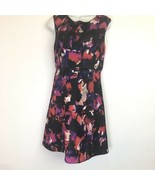 cynthia rowley dress pink black scuba material fitted A line womens Size 6 - $59.39
