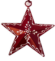 Painted Tin Star Ornament Burst by Culturas Trading Company-Holiday! - $5.00
