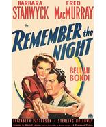 Remember The Night - 1940 - Movie Poster - $9.99+