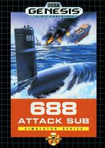 688 Attack Sub Sega Genesis Video Game - $9.97