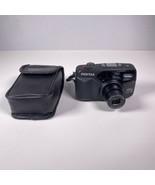 Pentax IQZoom EZY-R 35mm Point & Shoot Film Camera W/ Case & Battery EUC - $36.25