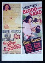 RITA HAYWORTH LINDA DARNELL BLOOD & SAND + STANWYCK! MOVIE AD POSTER - $16.39
