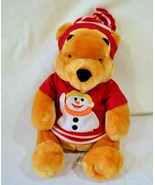Disney Store Exclusive Winnie The Pooh Christmas Stuffed Plush Red Sweat... - $18.39