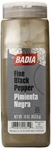 Badia Black Pepper Ground Fine, 16 Ounce - £13.74 GBP