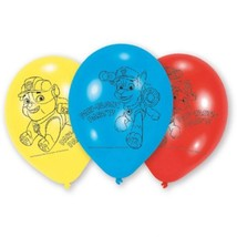 "Paw Patrol 6 Ct Latex Balloons 12"" Birthday Party Chase Marshall Rubble - $5.22"